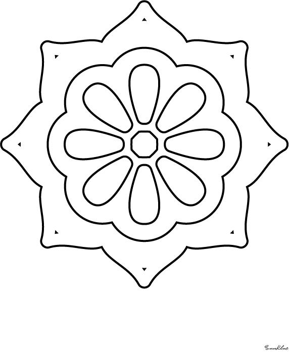 Mandala Boyama 10 Adet